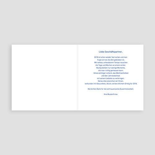 Geschäftliche Weihnachtskarten Blaue Renntiere pas cher