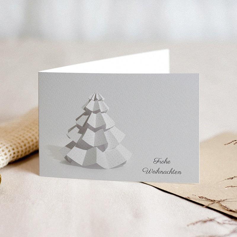 Geschäftliche Weihnachtskarten Papier- Weihnachtsbaum