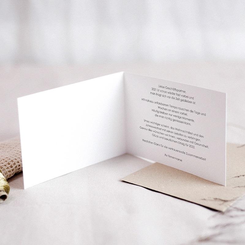 Geschäftliche Weihnachtskarten Papier- Weihnachtsbaum pas cher