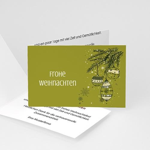 Weihnachtskarten - Tannenzweig 22656 test