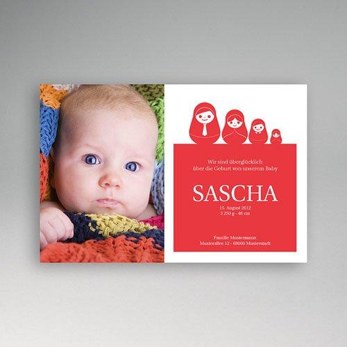 Geburtskarten für Mädchen - Russische Puppen 2266