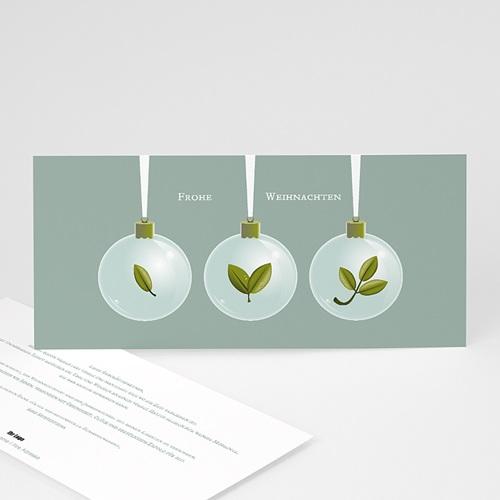 Weihnachtskarten - Weihnachtskugeln 22683