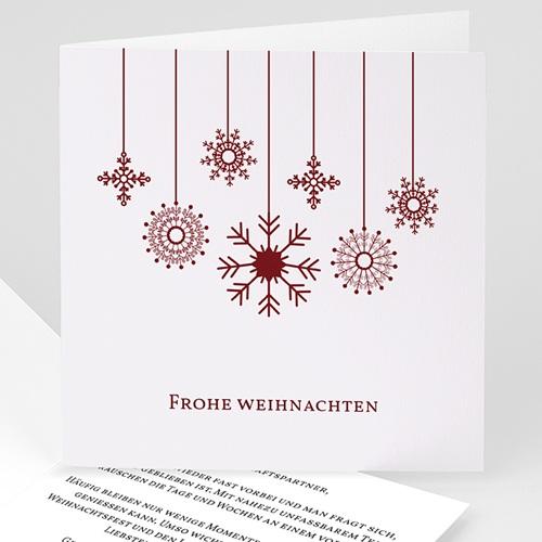 Geschäftliche Weihnachtskarten Kugelförmig