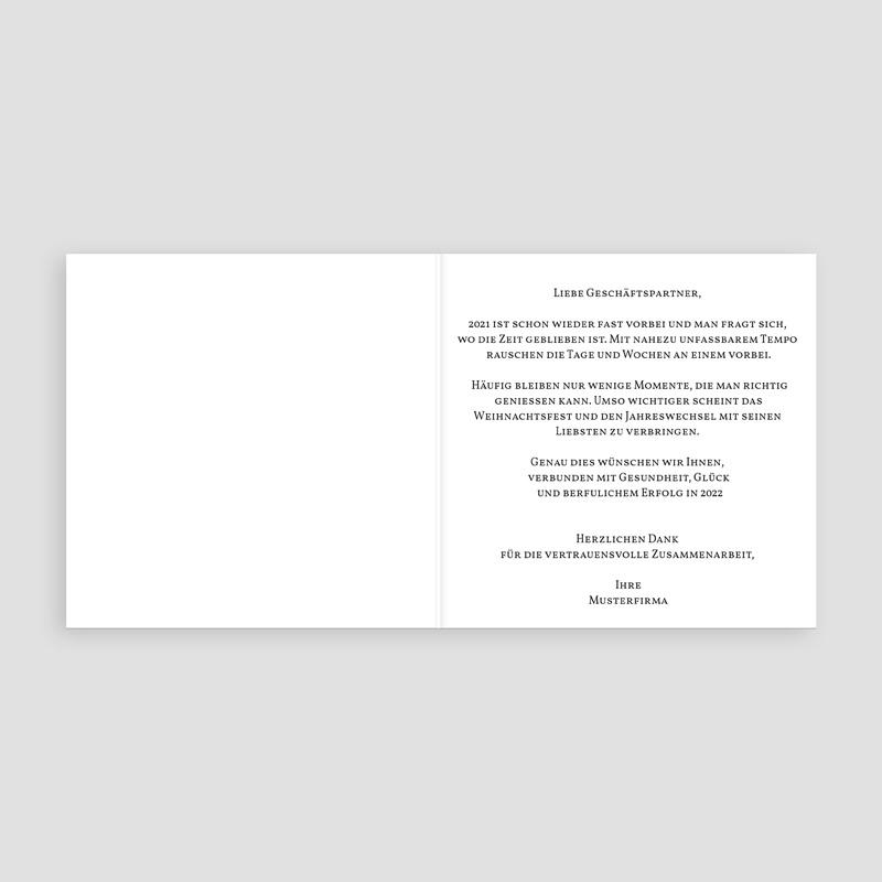 Geschäftliche Weihnachtskarten Kugelförmig pas cher