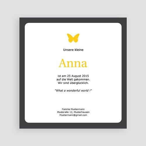 Geburtskarten für Mädchen - Drei Fotos gelb 2271 preview