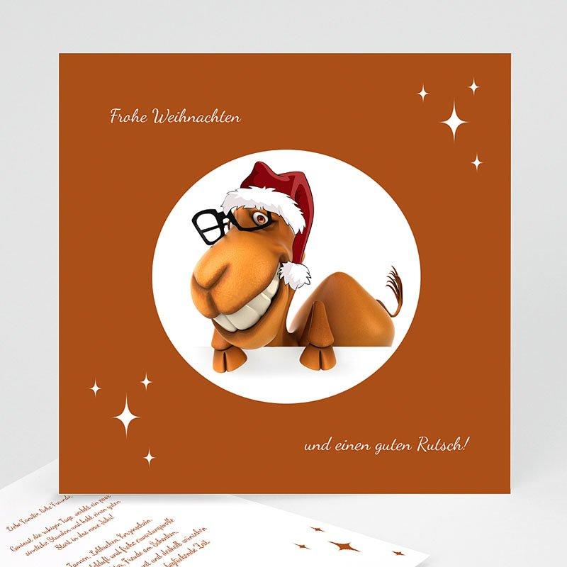 Weihnachtskarten Dromedar