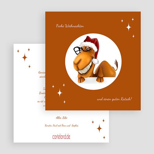 Weihnachtskarten Dromedar gratuit