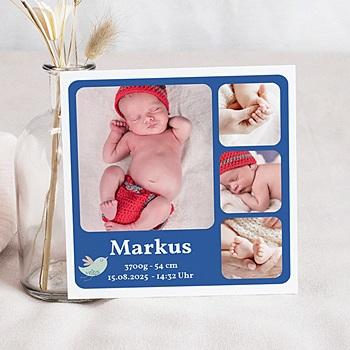 Babykarten für Jungen - Geburtskarte - 1