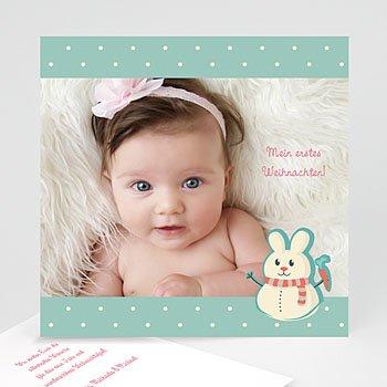 Weihnachtskarten - Hase und Karotte - 1