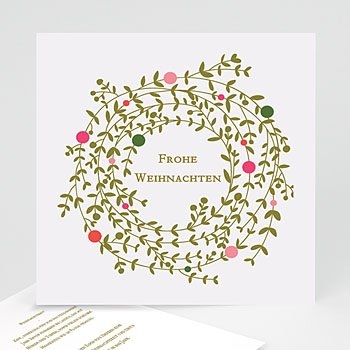 Weihnachtskarten - Adventskranz - 1