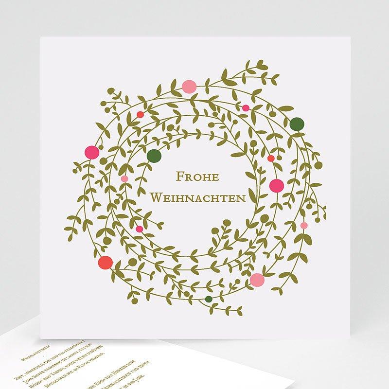 Weihnachtskarten Tannengrün