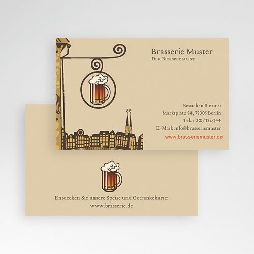Visitenkarten Brasserie pas cher
