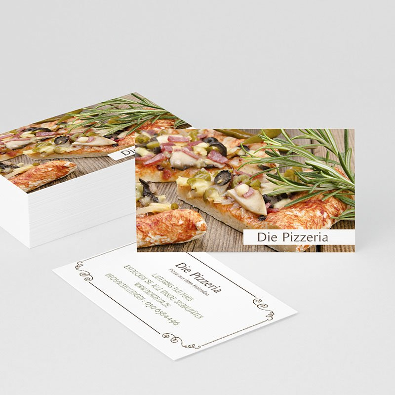 Visitenkarten Pizza