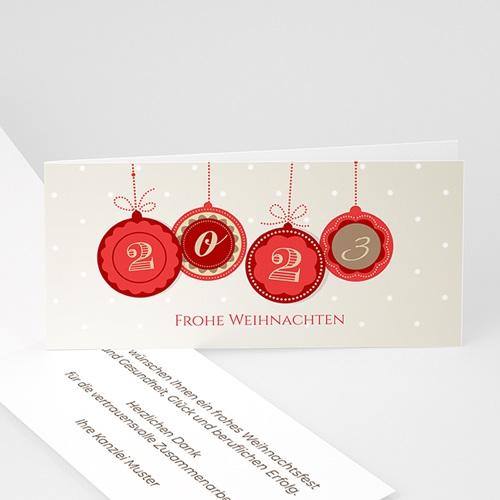 Weihnachtskarten - Runde Kugel 22814