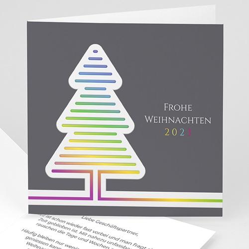 Geschäftliche Weihnachtskarten Fluo Weihnachtsbaum