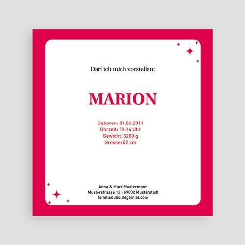 Geburtskarten für Mädchen - Yolanda 2283 test