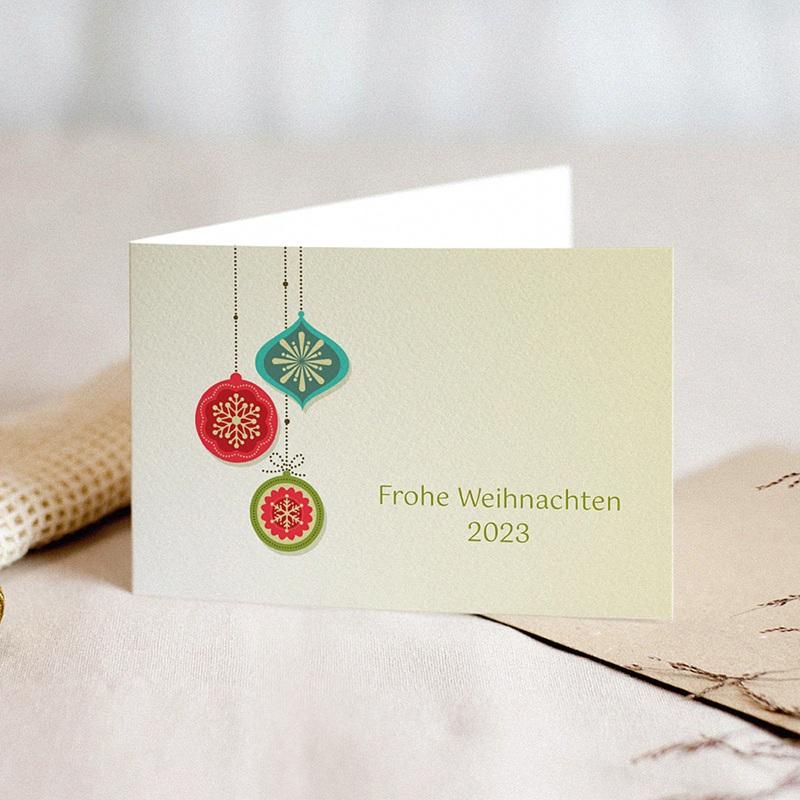 Weihnachtskarten - Farbenfroh 22838 thumb
