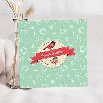 Weihnachtskarten - Vögelchen und Eule - 1