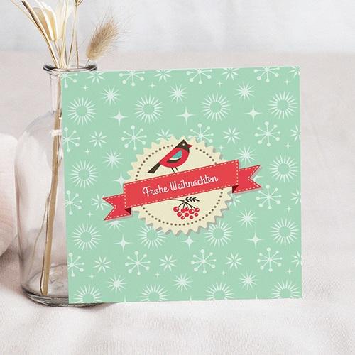 Weihnachtskarten - Vögelchen und Eule 22853