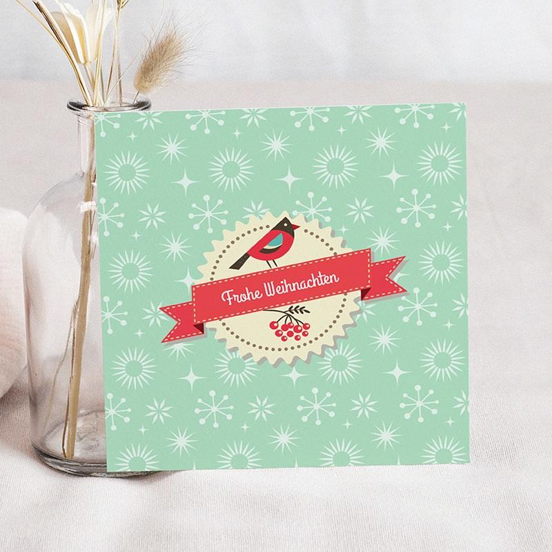 Weihnachtskarten Vögelchen