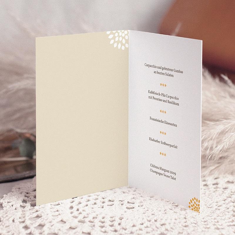 Menükarten Hochzeit  Sommerwiese pas cher