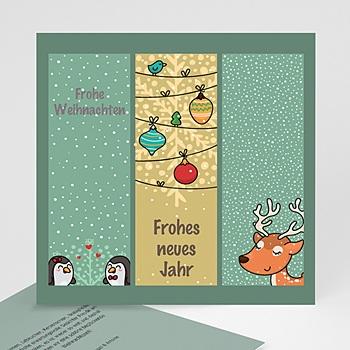Weihnachtskarten - Comic-Zeichung - 1
