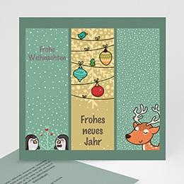 Neujahr Weihnachten Comic Zeichnung