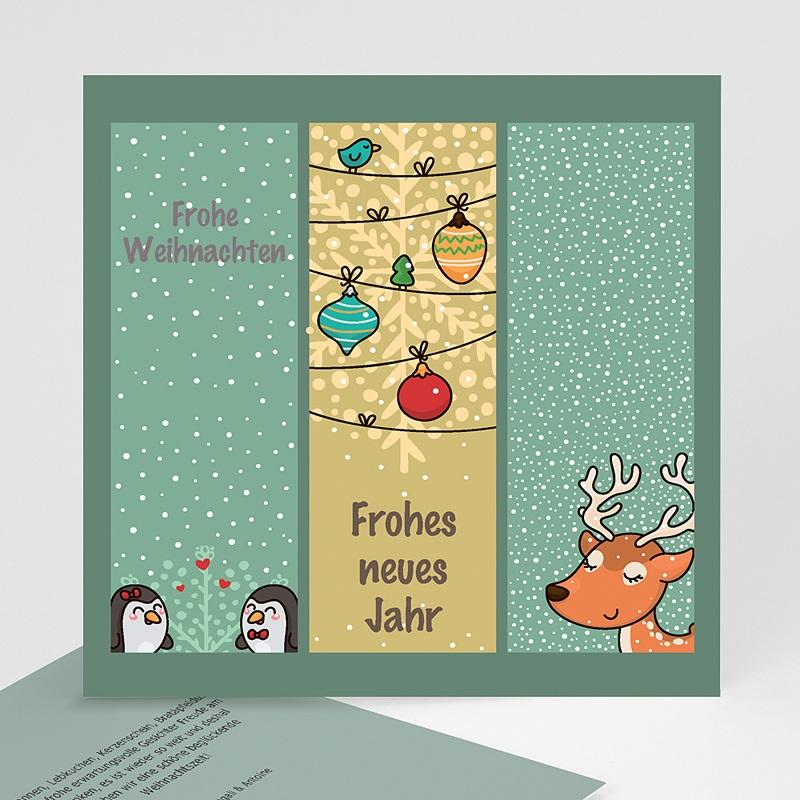 Weihnachtskarten Comic Zeichnung