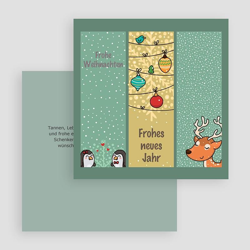 Weihnachtskarten Comic Zeichnung gratuit