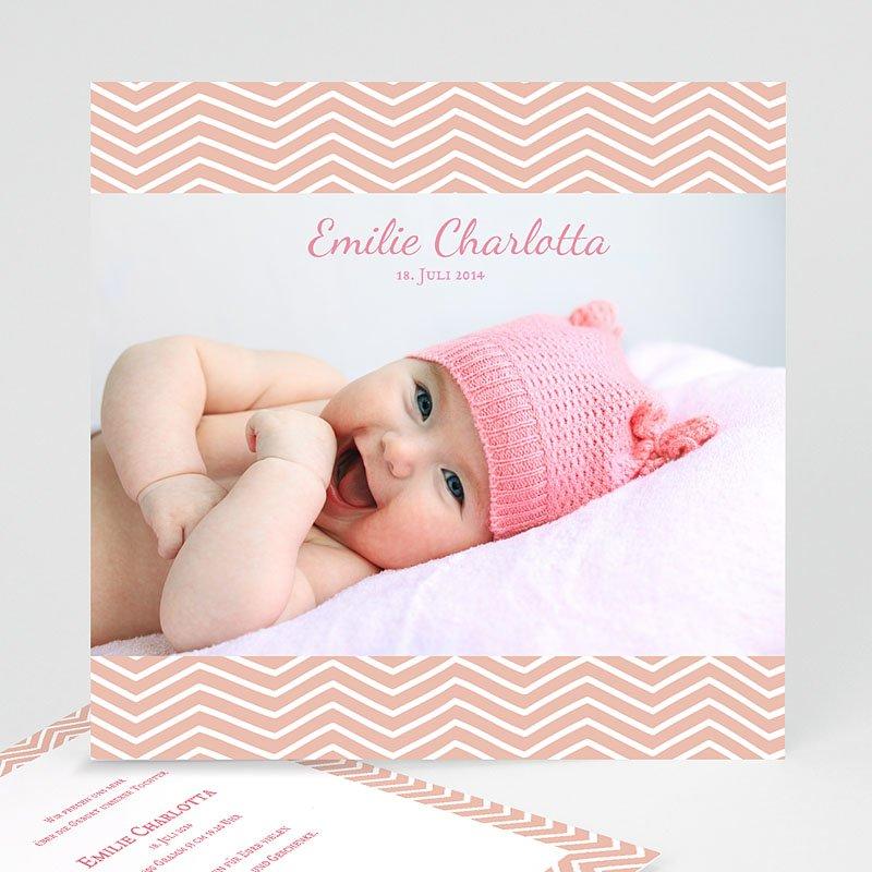 Geburtskarten für Mädchen Geometrisches Motiv
