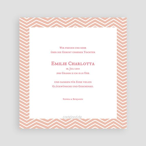 Geburtskarten für Mädchen Geometrisches Motiv pas cher