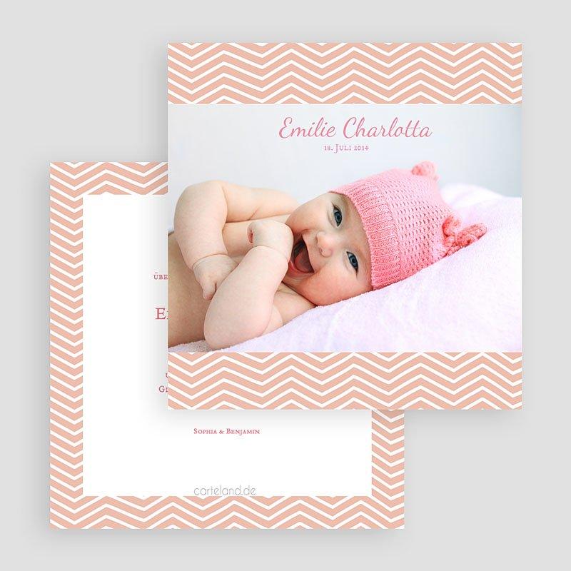 Geburtskarten für Mädchen Geometrisches Motiv gratuit