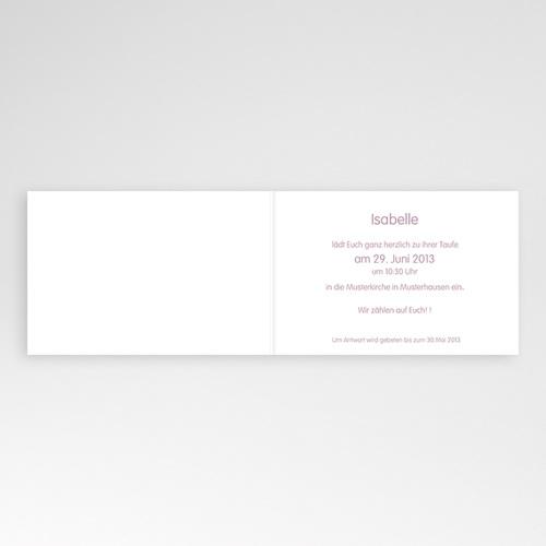 Einladungskarten Taufe Mädchen - Glücksvogel 22925 thumb