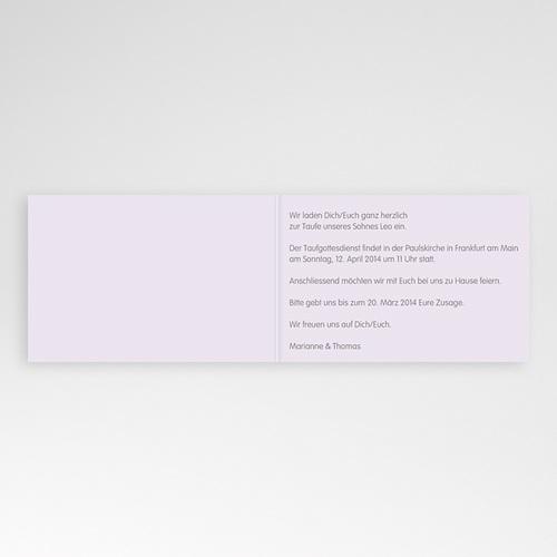 Einladungskarten Taufe Jungen  - Blumen und Kreuz 22931 preview