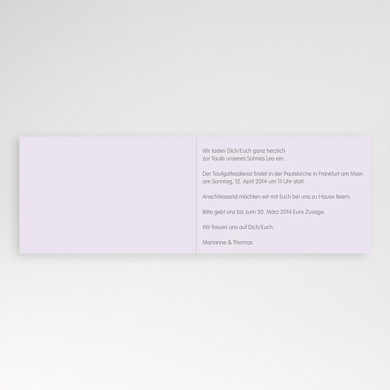 Einladungskarten Taufe für Jungen Blumen und Kreuz pas cher