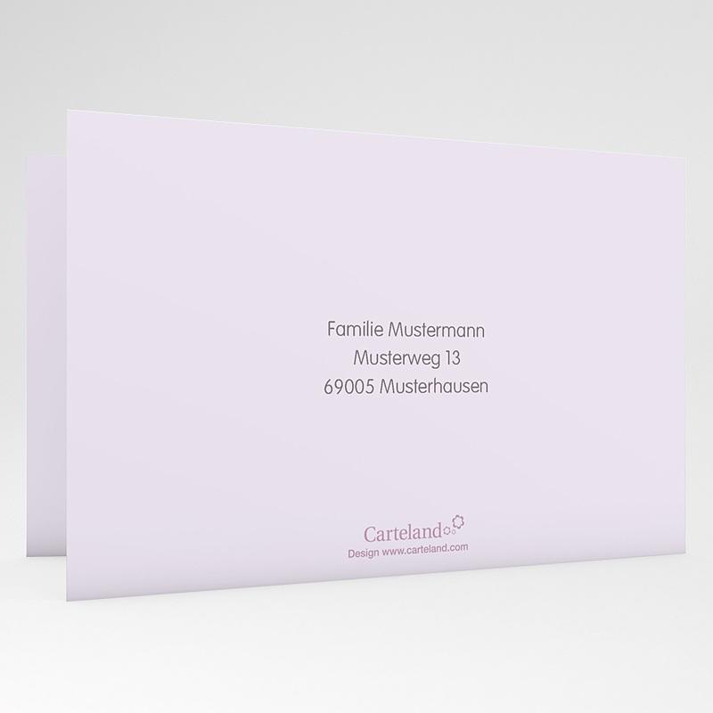 Einladungskarten Taufe für Jungen Blumen und Kreuz gratuit