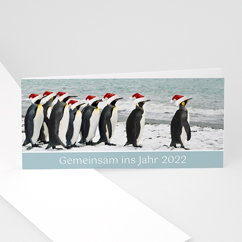 Weihnachtskarten - Pinguin 22933