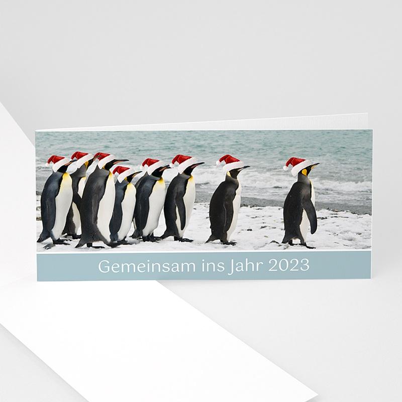 Geschäftliche Weihnachtskarten Pinguin
