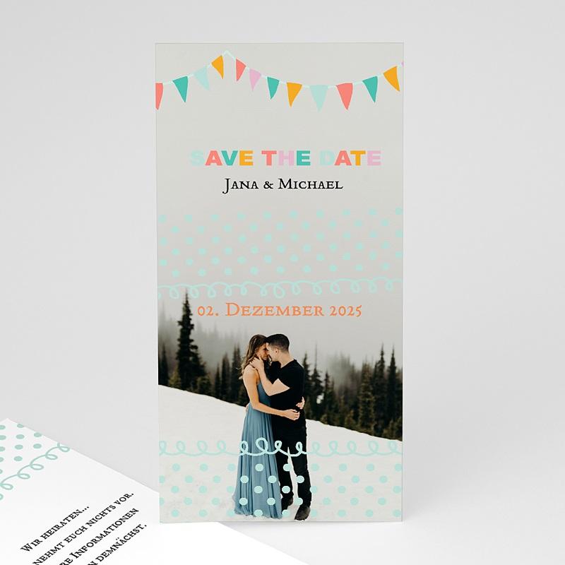 Save The Date Karten Hochzeit Fähnchen Pastell