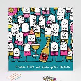 Neujahr Weihnachten Champagner