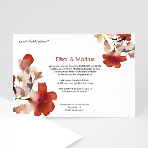 Hochzeitseinladungen modern - Aquarellfarben 22967