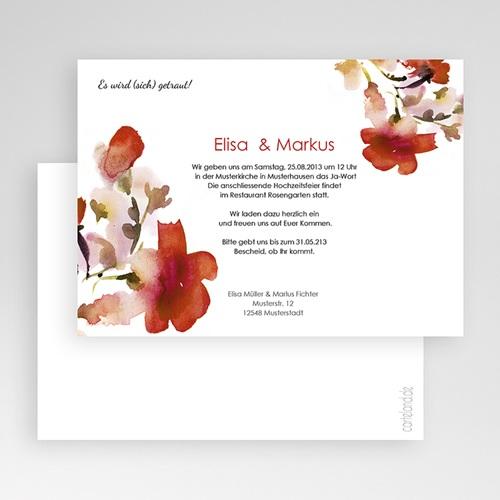 Hochzeitseinladungen modern - Aquarellfarben 22969 preview