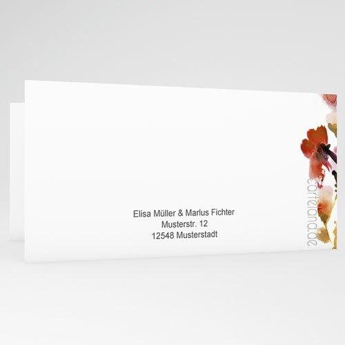 Hochzeitseinladungen modern - Warme Farben 22975 preview