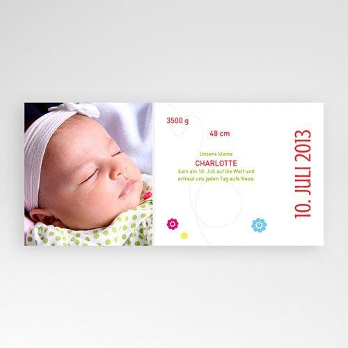 Geburtskarten für Mädchen - Marie rot 22982 preview