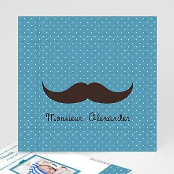 Geburtskarten für Jungen - Monsieur Schnurbart - 1