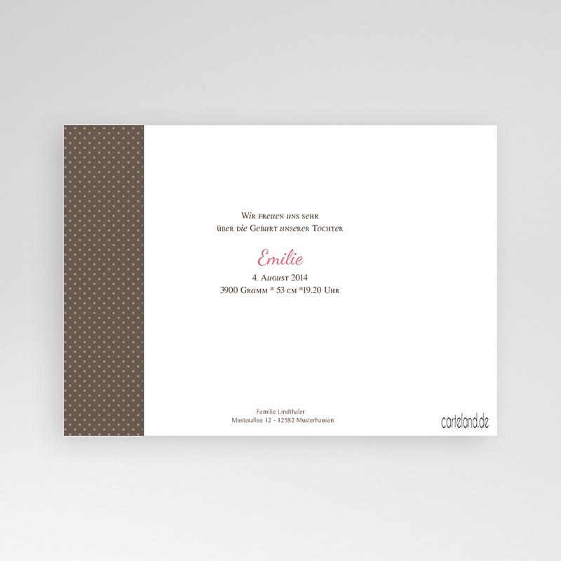 Geburtskarten für Mädchen Puenktchen pas cher
