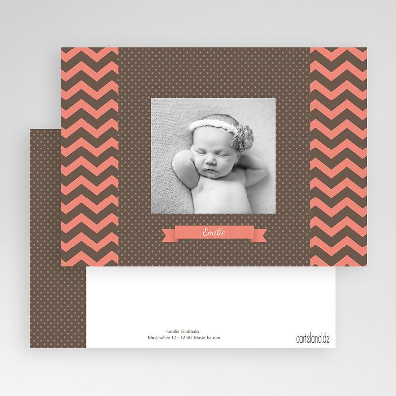 Geburtskarten für Mädchen Puenktchen gratuit