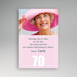 Einlegekarte Anniversaire adulte Zartrosa