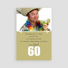 Einlegekarte Anniversaire adulte 60 Jahre