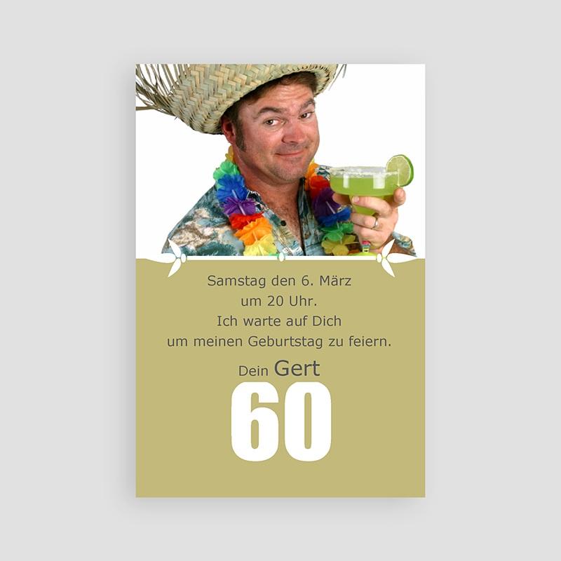 Erwachsener Einladungskarten Geburtstag 60 Jahre